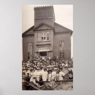 Poster Photo 1910 d'église baptiste abyssinienne, New