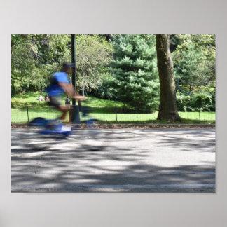 Poster Photo de bicyclette de cycliste de Central Park de