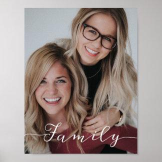 Poster Photo de manuscrit d'amour de famille