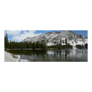 Poster Photo de parc national de Yosemite de lac snowy