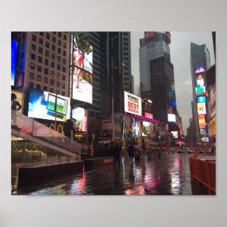 Poster Photo d'enseignes au néon de New York City NYC de