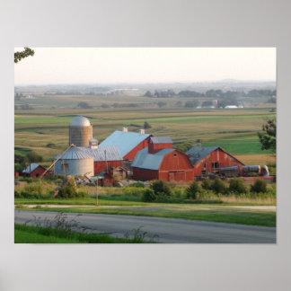 Poster Photo d'une ferme de Midwest dans Platteville, le