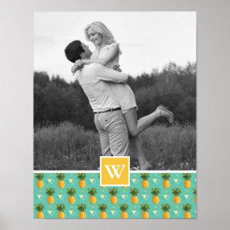 Poster Photo géométrique du motif | d'ananas avec le