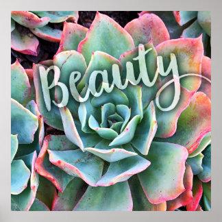 """Poster Photo verte de """"beauté"""" et rose en bon état de"""