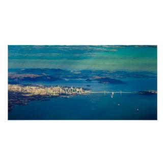 Poster Photographie aérienne de la Baie de San Franciso