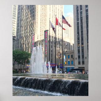 Poster Photographie d'avenue de fontaine de New York City