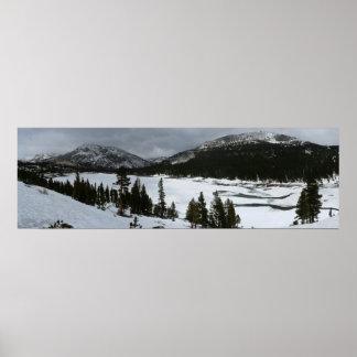Poster Photographie d'hiver de la Californie de lac snowy