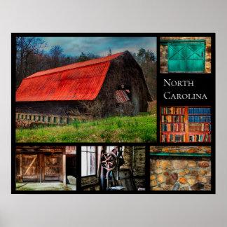 Poster Photographie rustique de grange de ferme de la
