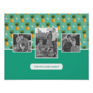 Poster Photos et texte de famille géométriques du motif |