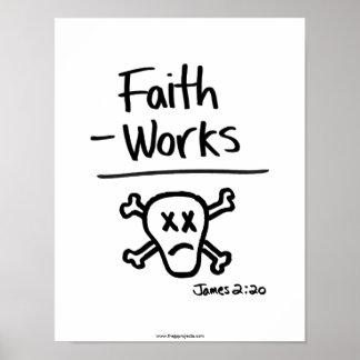 Poster Pictographe minimaliste d'écriture sainte - 2h20
