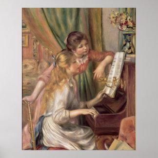 Poster Pierre jeunes filles de Renoir un | au piano