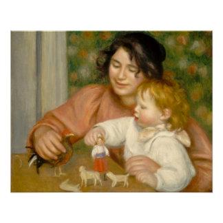 Poster Pierre un enfant de Renoir | avec des jouets
