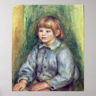 Poster Pierre un portrait posé par | de Renoir de Claude