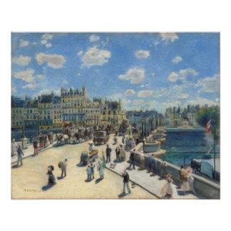 Poster Pierre un Renoir   Pont Neuf, Paris