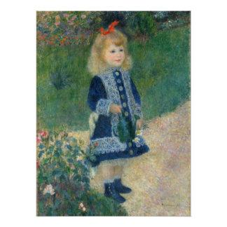 Poster Pierre un Renoir | une fille avec une boîte