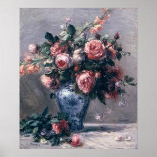 Poster Pierre un vase à Renoir | de roses