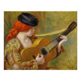 Poster Pierre une jeune femme espagnole de Renoir   avec