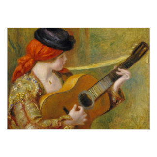 Poster Pierre une jeune femme espagnole de Renoir | avec