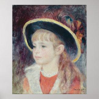 Poster Pierre une jeune fille de Renoir | dans un