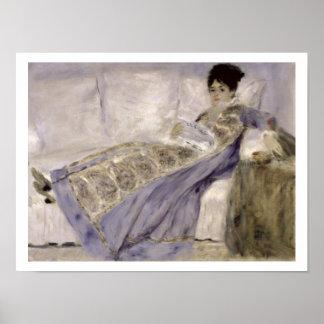 Poster Pierre une Madame Monet de Renoir | sur un sofa