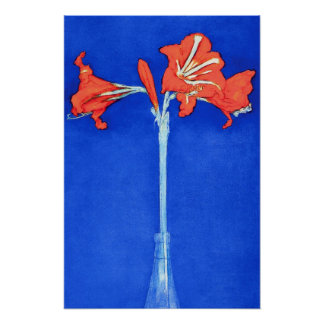 Poster Piet Mondrian - peinture de fleur de beaux-arts