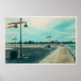 Poster Pilier de chevalier d'Edouard B à la plage de