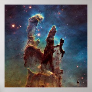 Poster Piliers de nébuleuse de HDR Eagle de création