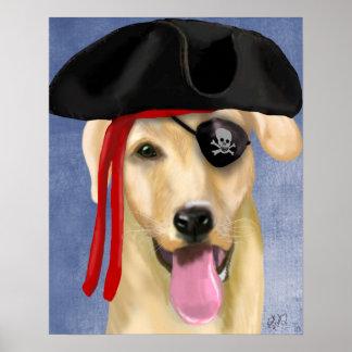 Poster Pirate jaune de Labrador