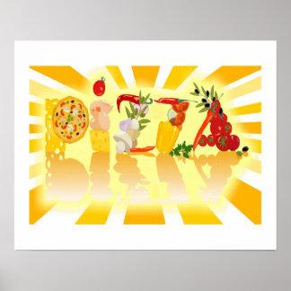 Poster Pizza de soleil