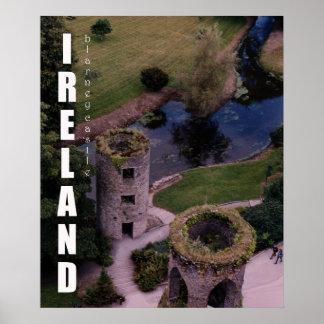 Poster Placé sur le château de cajolerie, l'Irlande