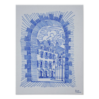 Poster Placez DES VOSGES | Marais, Paris, France