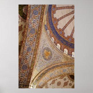 Poster Plafond bleu de mosquée