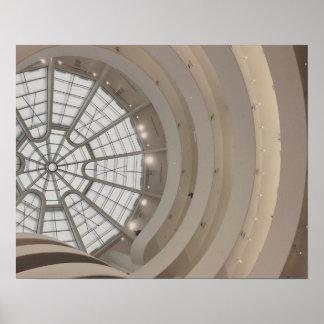Poster Plafond de musée de Guggenheim en affiche de New