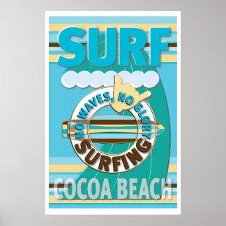 Poster Plage de cacao de surf