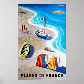 Poster Plages des plages De France de voyage de la France