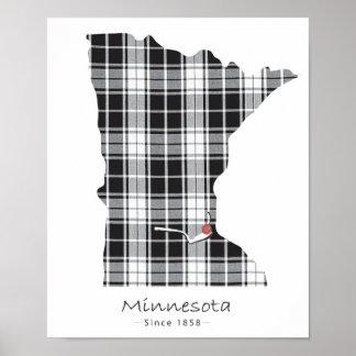 Poster Plaid du Minnesota