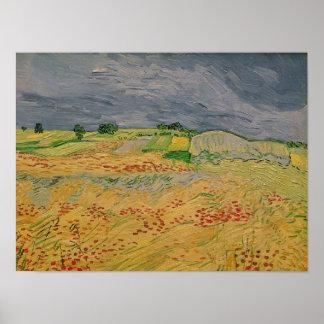 Poster Plaine de Vincent van Gogh | chez Auvers, 1890