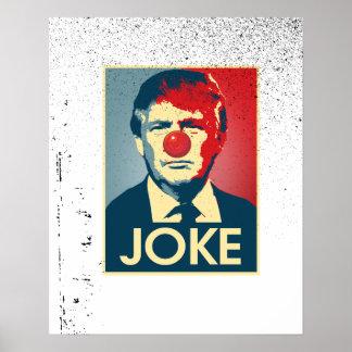 Poster PLAISANTERIE de Donald Trump -- Anti-Atout 2016 -