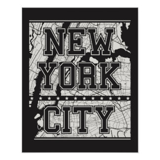 Poster Plan de ville de New York City |