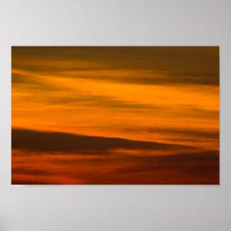 Poster Plan rapproché de coucher du soleil, Michigan