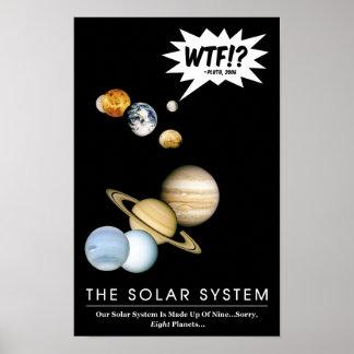Poster Planète Pluton WTF ! ? Salle de classe drôle de