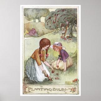 Poster Plantation des ampoules par Anne Anderson