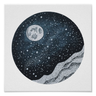 Poster Pleine lune