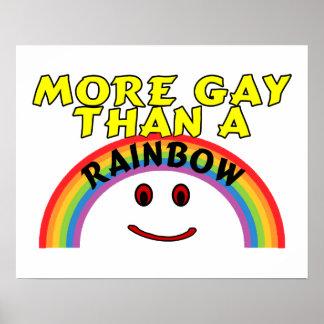 Poster Plus gai qu'un arc-en-ciel