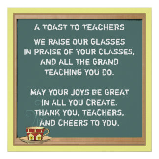 Poster Poème d'appréciation de professeur