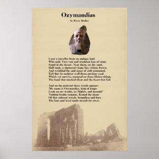 Poster Poème d'Ozymandias de Percy Shelley