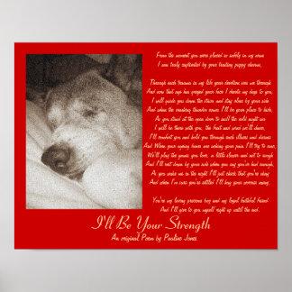 Poster poème original de chien de chien de sympathie