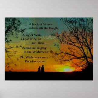 Poster poème romantique - Rubaiyat d'Omar Khayyam