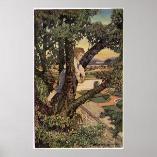 Poster Poème vintage, terre étrangère par Jessie Willcox