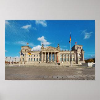 Poster Point de repère AR de bâtiment de l'Allemagne